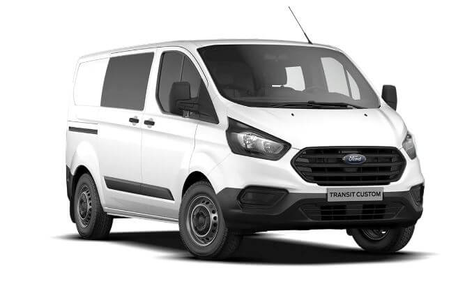 ford transit custom met dubbele cabine leasen